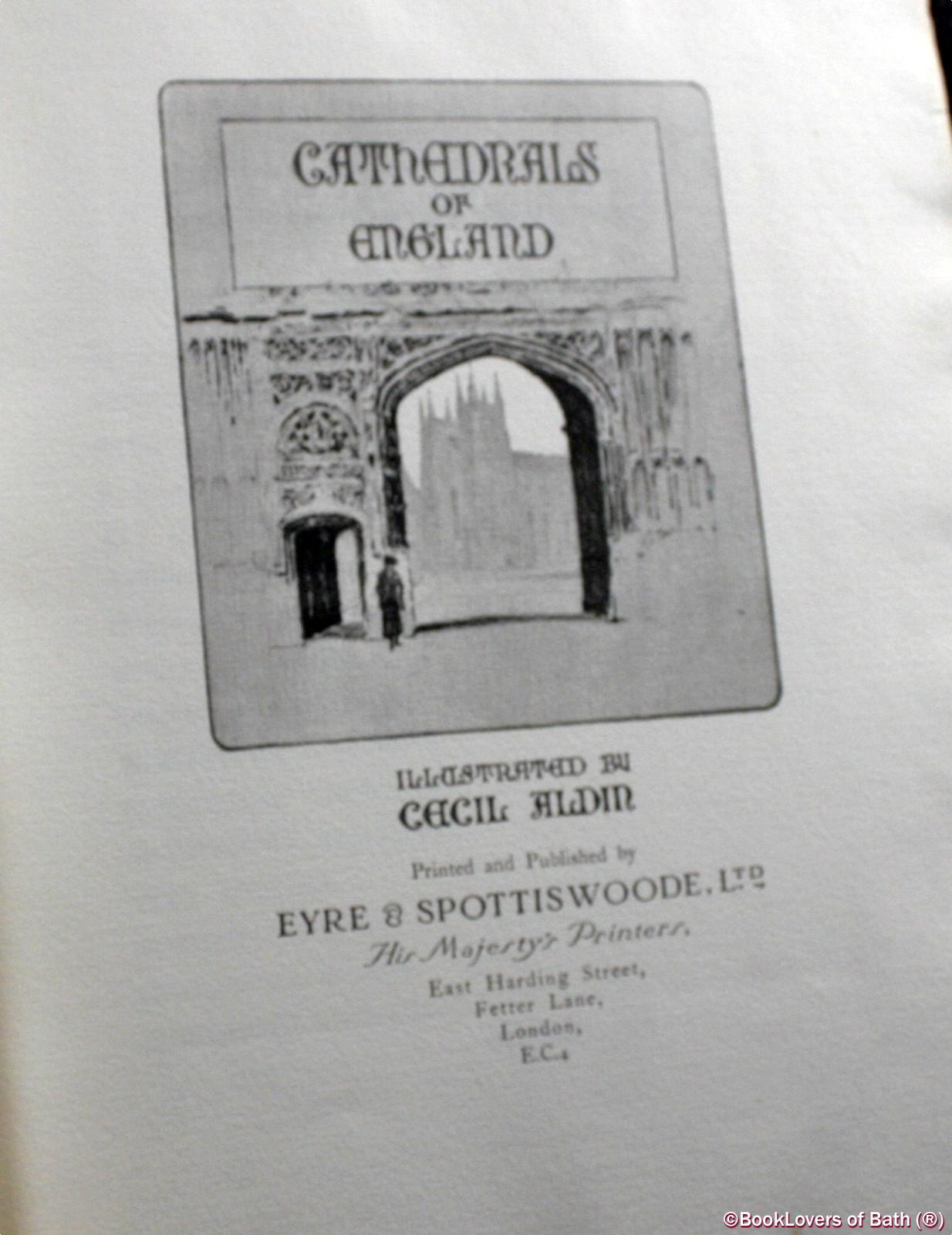 Cathedrals and Abbey Churches of England - Cecil [Charles Windsor] Aldin