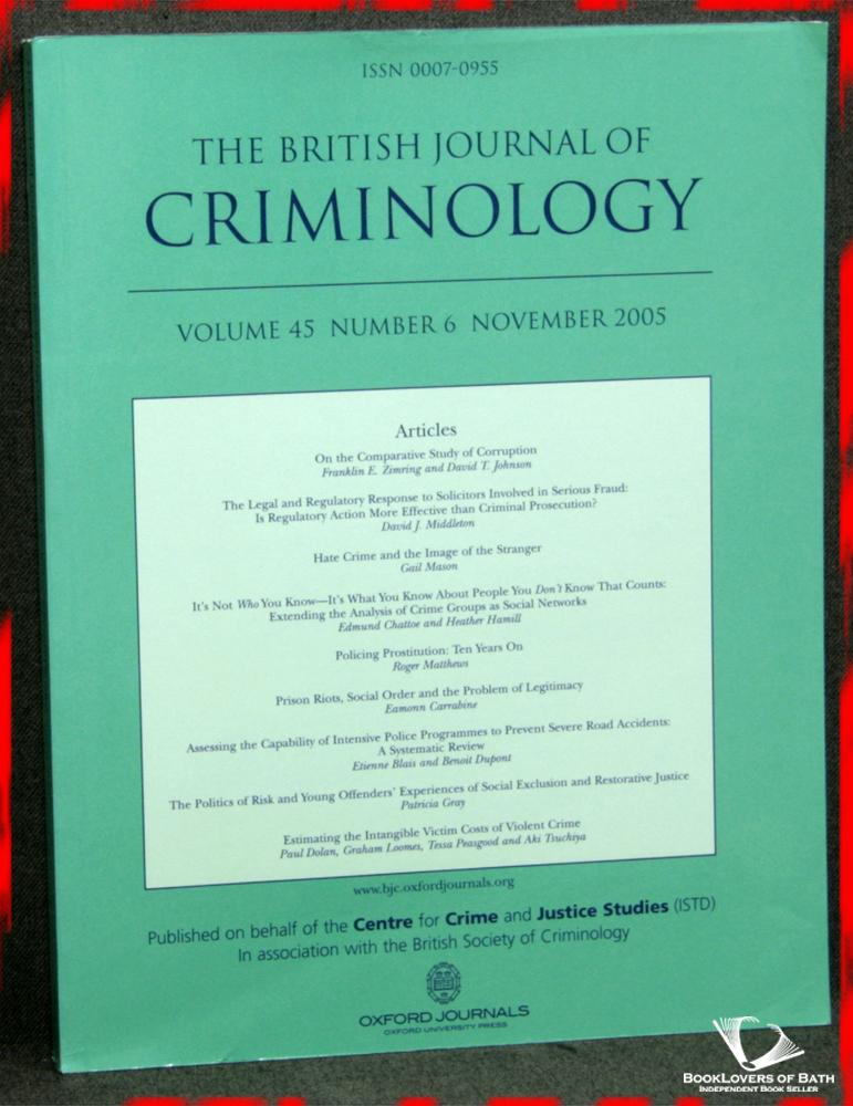 The British Journal of Crimonology Volume 45 Number 6 November 2005 - Geoffrey Pearson