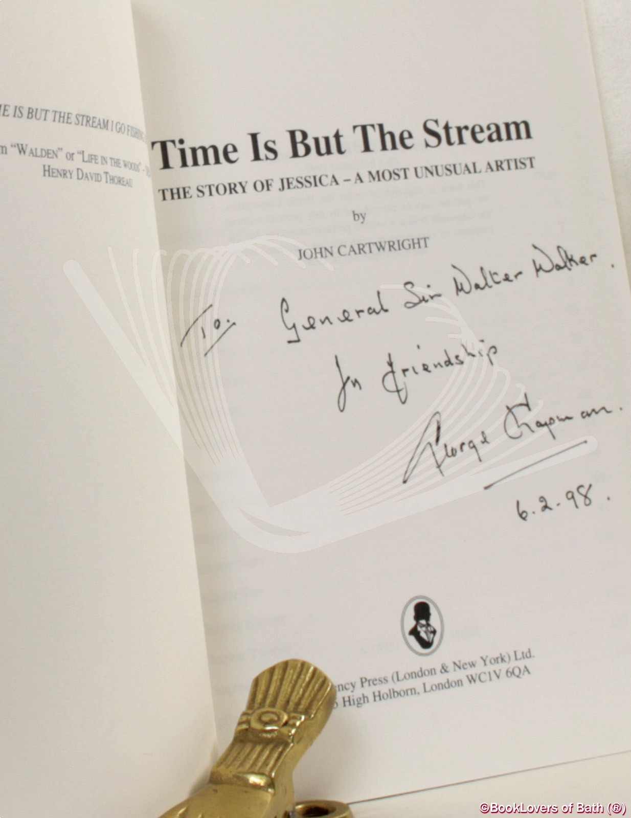 Time Is But the Stream: The Story of Jessica - A Most Unusal Arti