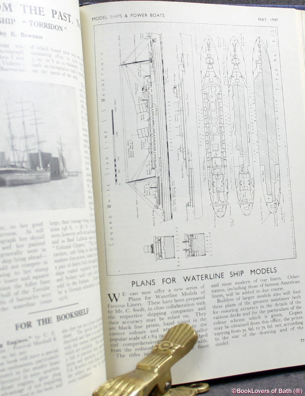 Model Ships and Power Boats Vol 1. No. 3 March 1948 - Vol. 3 No. 25 January 1950 - Anon.