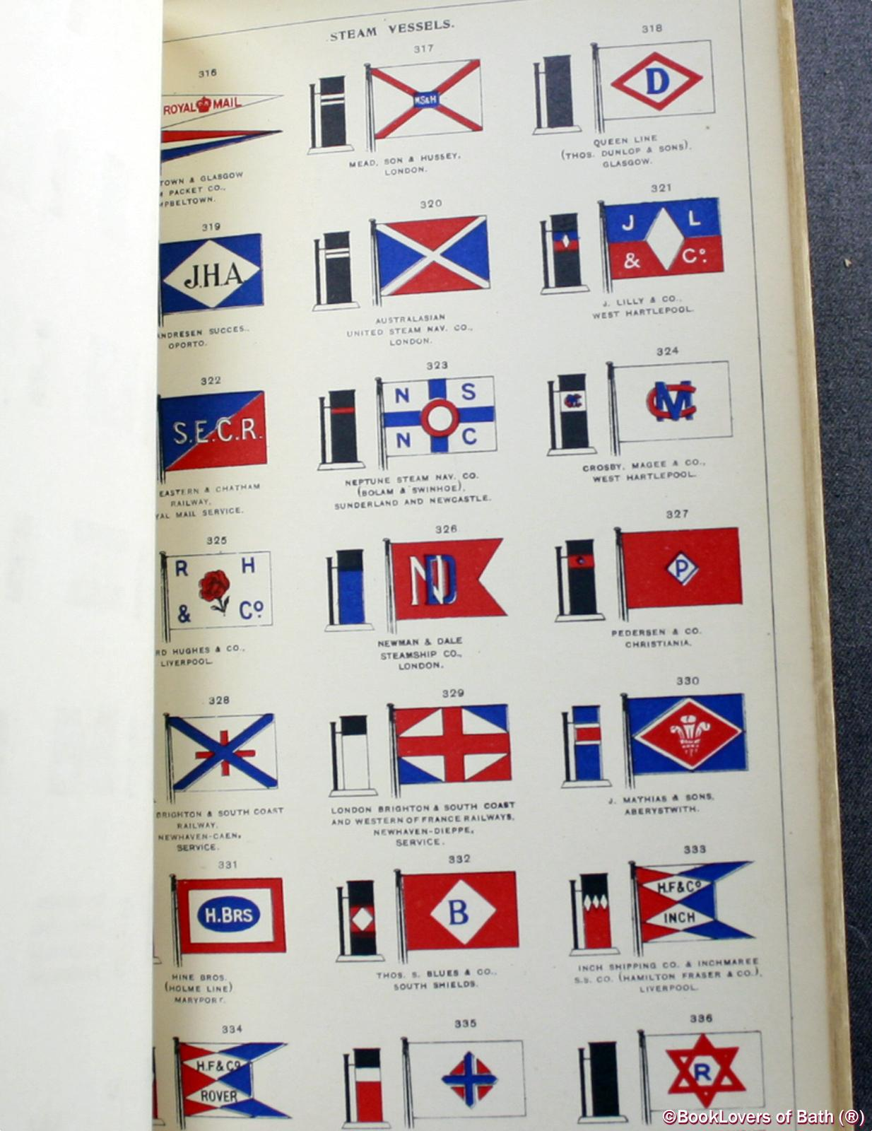 Lloyd's Book of House Flags & Funnels of the Principal Steamship Lines of the World, and the House Flags of Various Lines of Sailing Vessels - Anon.