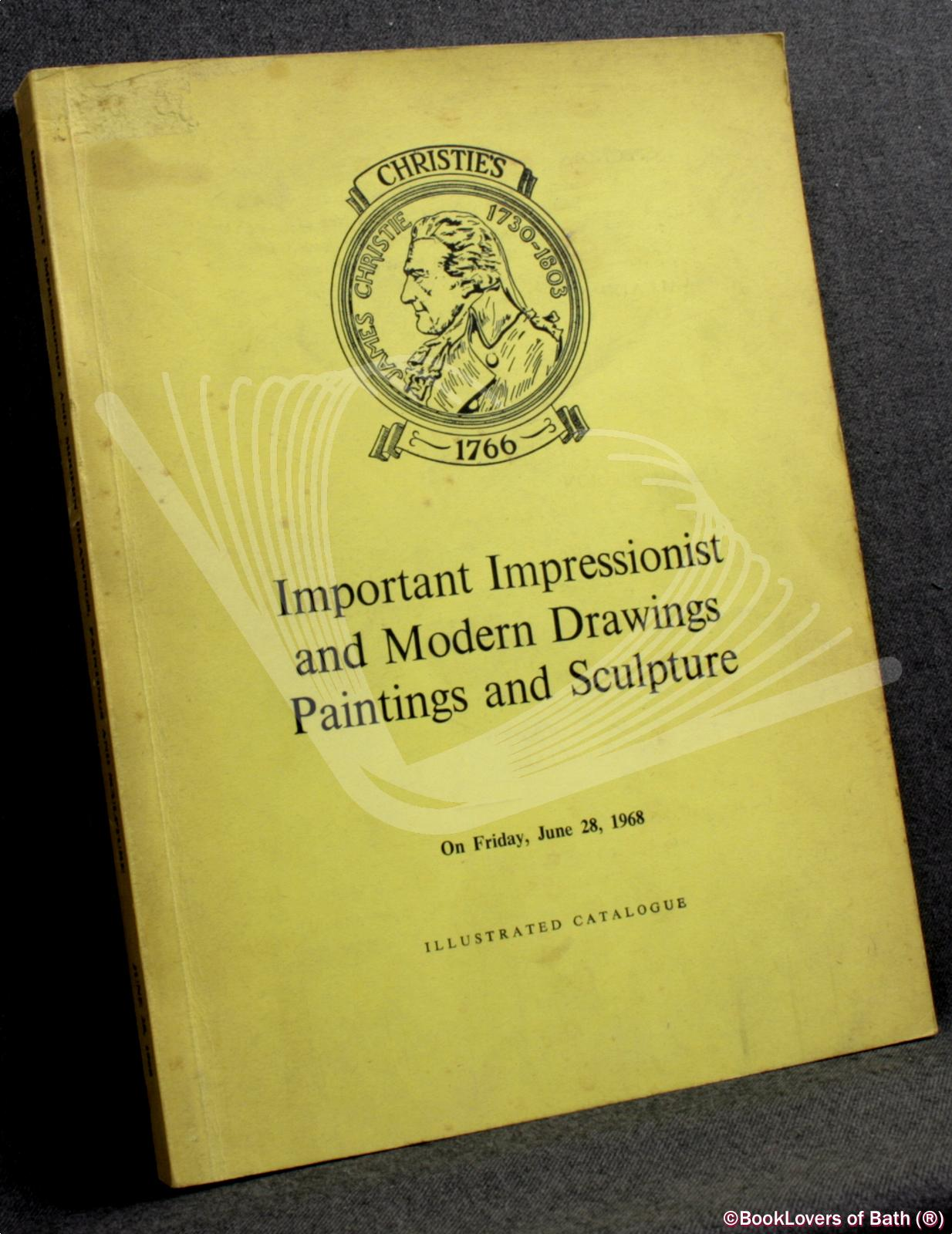 Catalogue of Important Impressionist and Modern Drawings - Anon.