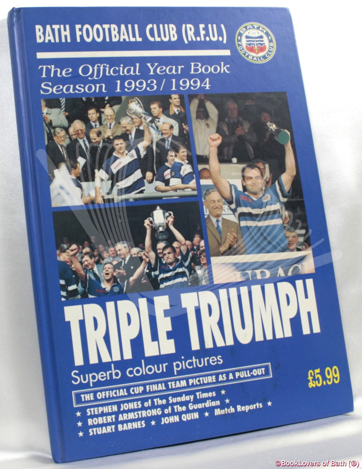 Bath Football Club (R.F.U.) Triple Triumph: The Official Year Book Season 1993 / 1994 - Edited by Ken Johnstone