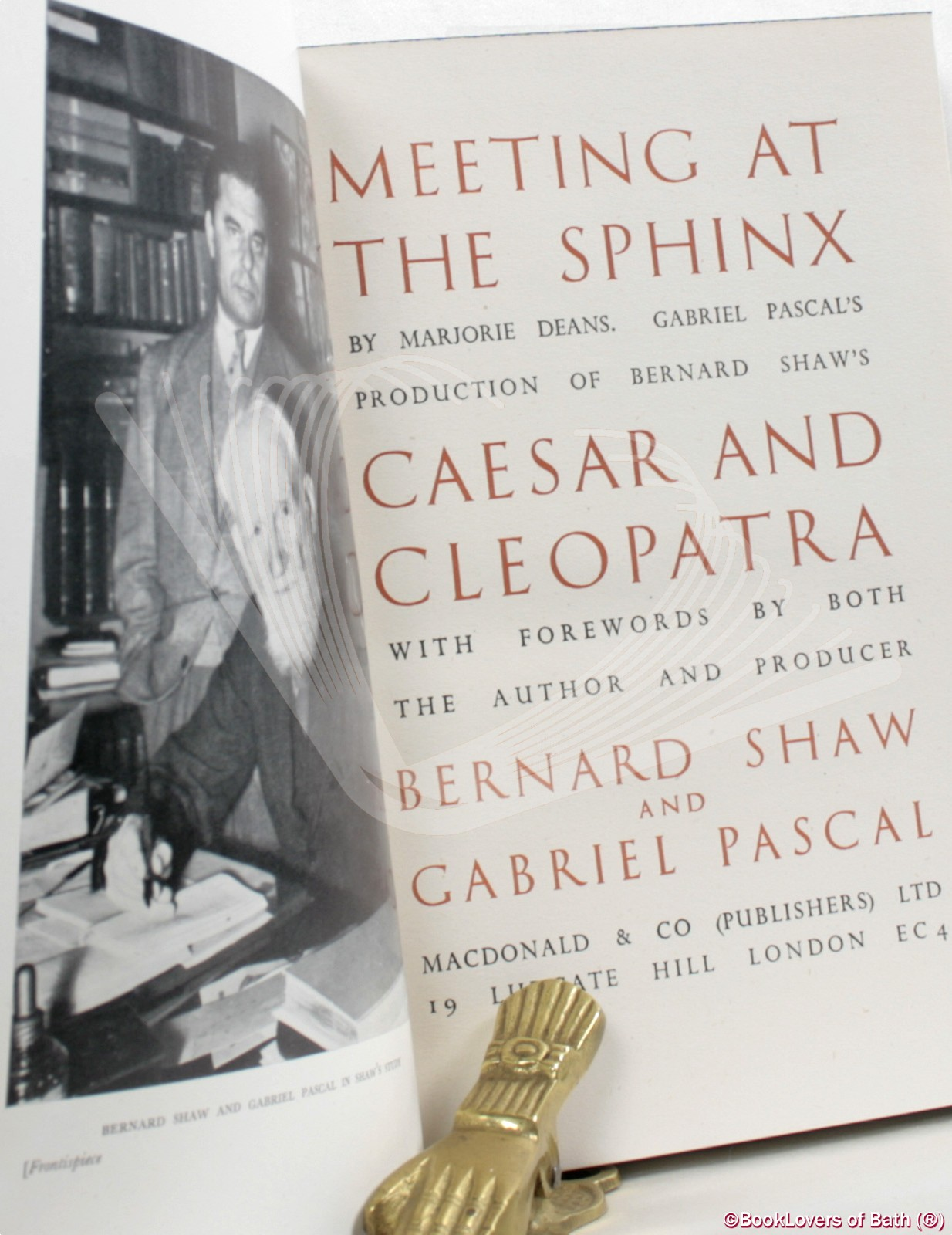 Meeting at the Sphinx: Gabriel Pascal's Production of Bernard Sha