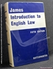 Introduction To English Law Fifth Edition Philip S. James